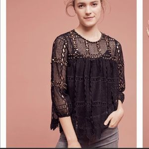 Anthropologie Maeve Auralis Lace Stud Top